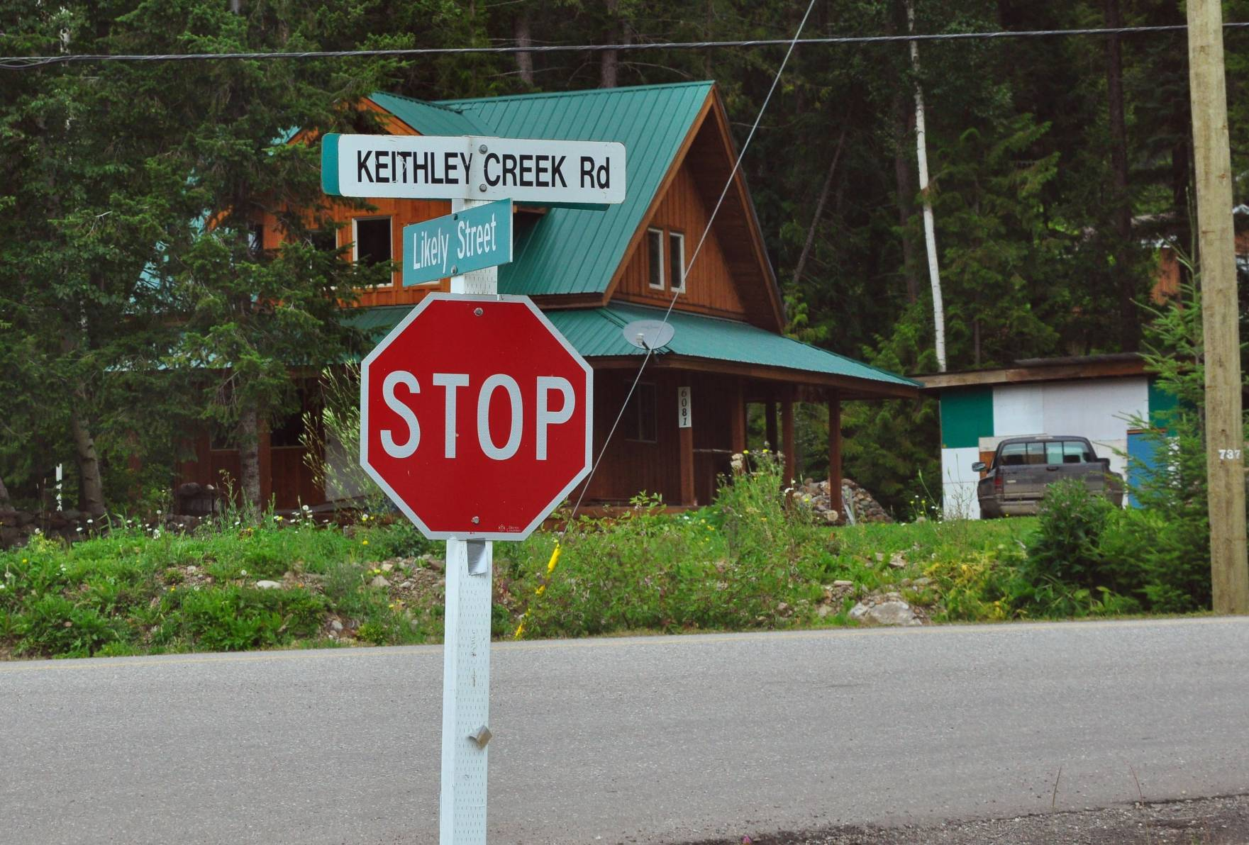 1. Abschnitt Keithley Creek Road